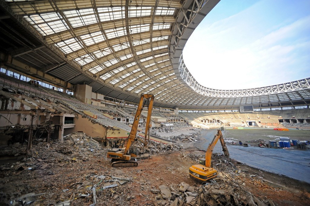 Демонтаж спортивных сооружений