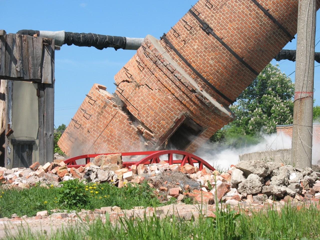 Демонтаж дымовых труб и котельных